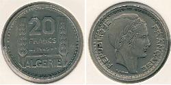 20 Franc Algeria Copper/Nickel