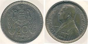 20 Franc Monaco Copper/Nickel