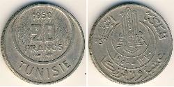 20 Franc Tunisia Copper/Nickel