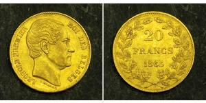 20 Franc Belgien Gold Leopold I. (Belgien) (1790-1865)