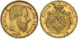 20 Franc Belgium Gold Leopold II of Belgium(1835 - 1909)