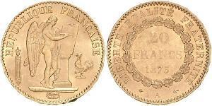 20 Franc Dritte Französische Republik (1870-1940)  Gold