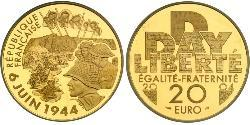 20 Franc French Fifth Republic (1958 - ) Gold