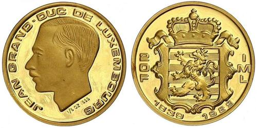 20 Franc Luxembourg Gold Jean, Grand Duke of Luxembourg (1921 - )