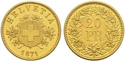 20 Franc Switzerland Gold