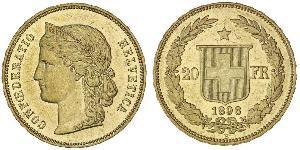 20 Franc Switzerland Gold