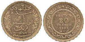 20 Franc Tunisia Gold