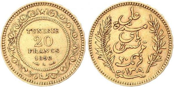 20 Franc Tunisia Gold