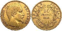 20 Franc Zweites Kaiserreich (1852-1870) Gold Napoleon III (1808-1873)