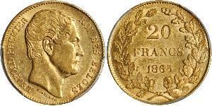 20 Franc Belgique Or Léopold Ier de Belgique (1790-1865)