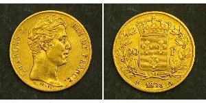 20 Franc Kingdom of France (1815-1830) Or Charles X de France (1757-1836)