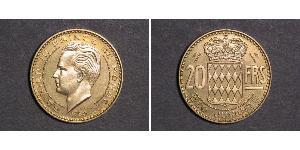 20 Franc Monaco Or Rainier III