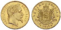 20 Franc Second Empire (1852-1870) Or Napoleon III (1808-1873)