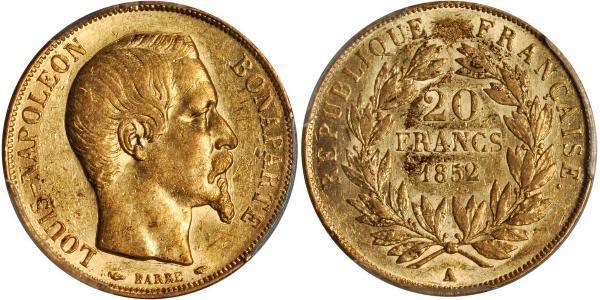 20 Franc Second Empire (1852-1870) Or Napoleon III (1808-1873)