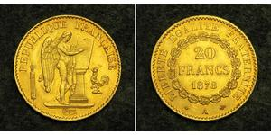 20 Franc Troisième République (1870-1940)  Or