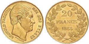 20 Franc Belgio Oro Leopoldo I del Belgio (1790-1865)