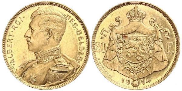 20 Franc Belgio Oro