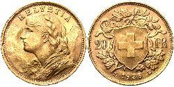 20 Franc Suiza Oro