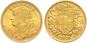 20 Franc Suiza Oro