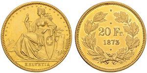 20 Franc Svizzera Oro