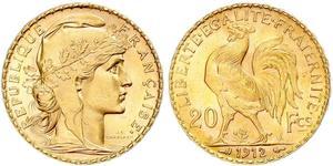 20 Franc Terza Repubblica francese (1870-1940)  Oro