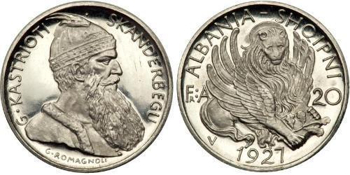 20 Franc Albania Platino