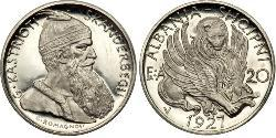 20 Franc 阿尔巴尼亚 Platinum