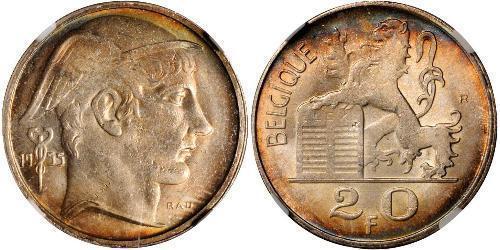 20 Franc Belgium Silver