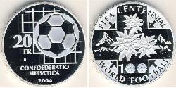 20 Franc Switzerland Silver