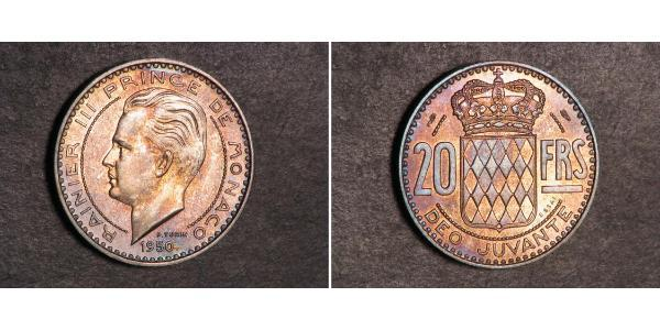 20 Franc Monaco  兰尼埃三世