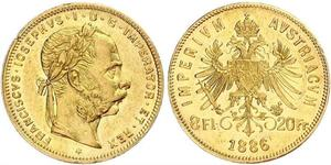 20 Franc / 8 Florin Austria-Hungary (1867-1918) Gold Franz Joseph I (1830 - 1916)