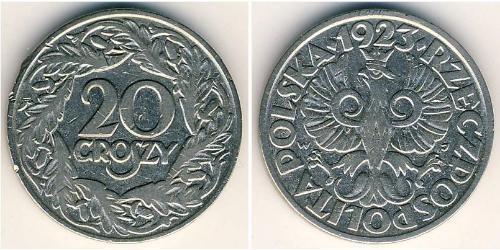 20 Grosh Second Polish Republic (1918 - 1939) Copper/Nickel