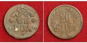 20 Heller German East Africa (1885-1919) 銅
