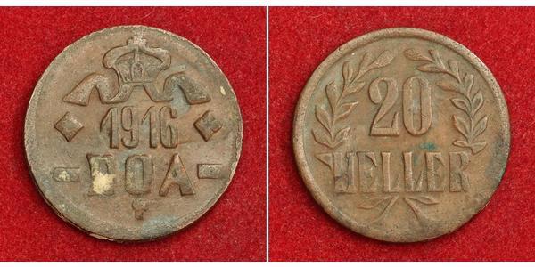 20 Heller German East Africa (1885-1919) 銅