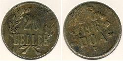20 Heller German East Africa (1885-1919) Bronze