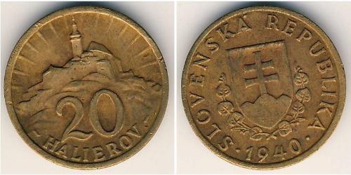 20 Heller Slovakia Bronze