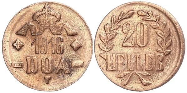 20 Heller África Oriental Alemana (1885-1919) Cobre