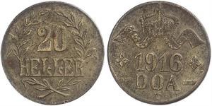 20 Heller German East Africa (1885-1919) Copper