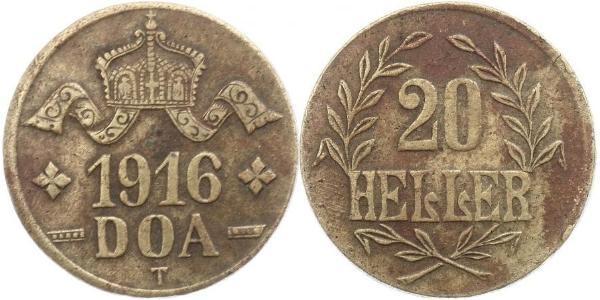 20 Heller German East Africa (1885-1919) Copper