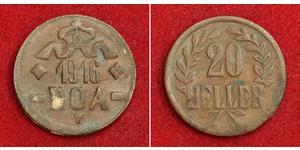 20 Heller Afrique orientale allemande (1885-1919) Cuivre