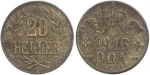 20 Heller Deutsch-Ostafrika (1885-1919) Kupfer