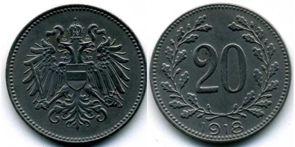 20 Heller Österreich-Ungarn (1867-1918) Stahl