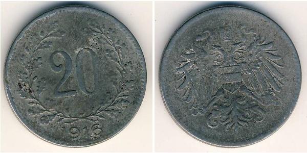 20 Heller Austria-Hungary (1867-1918) Steel