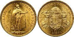 20 Korona Королевство Венгрия (1000-1918) Золото Франц Иосиф I (1830 - 1916)