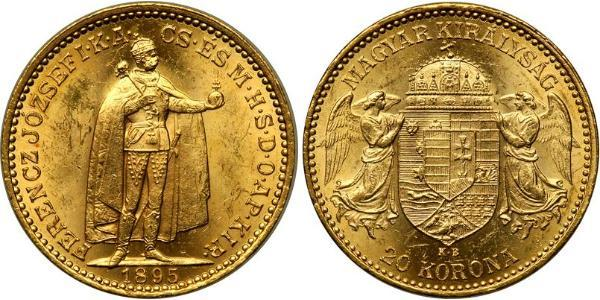 20 Korona Kingdom of Hungary (1000-1918) Gold Franz Joseph I (1830 - 1916)