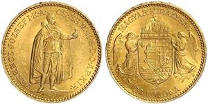 20 Korona Royaume de Hongrie (1000-1918) Or Franz Joseph I (1830 - 1916)