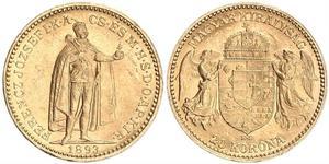 20 Korona Reino de Hungría (1000-1918) Oro Franz Joseph I (1830 - 1916)