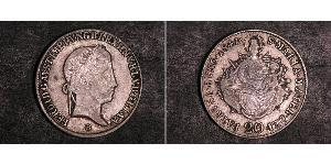20 Kreuzer 匈牙利王国 銀 Ferdinand I of Austria (1793 - 1875)