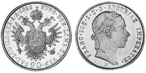20 Kreuzer 奧地利帝國 (1804 - 1867) 銀