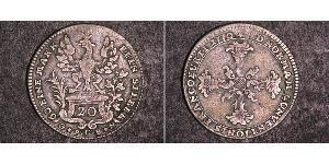 20 Kreuzer 联邦州 (德国) 銀